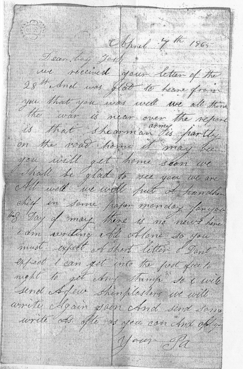 a soldier in the civil war letter1
